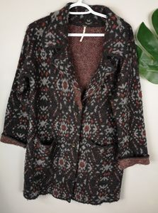 Free people tribal cardigan